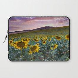 Wonderful Sunflowers. Pink Sunrise Laptop Sleeve