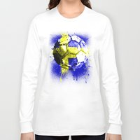 sweden Long Sleeve T-shirts featuring football Sweden  by seb mcnulty