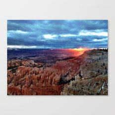 The Sun has risen Canvas Print