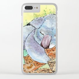 Sleepy Koala Clear iPhone Case