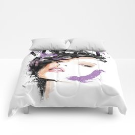 Vogue Fashion Illustration #8 Comforters