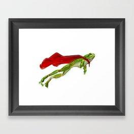 Super Frog Framed Art Print
