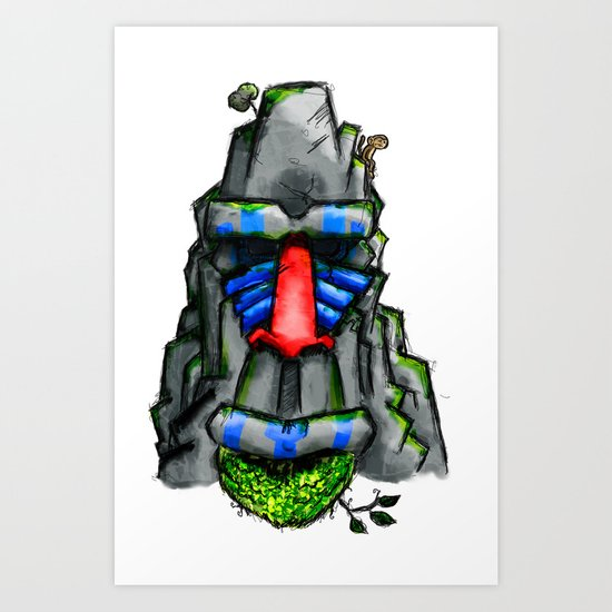 All hail the great Monkey Rock! Art Print