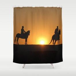 Three Horsemen Shower Curtain