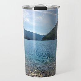 Lake Crescent Olympic Mountain Pano Travel Mug