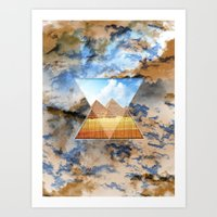 egypt Art Prints featuring EGYPT by sametsevincer