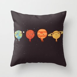 planet sun earth cute art new hot 2018 style cuteness star stars Throw Pillow