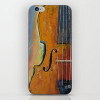 violin iPhone & iPod Skins featuring Violin by Michael Creese