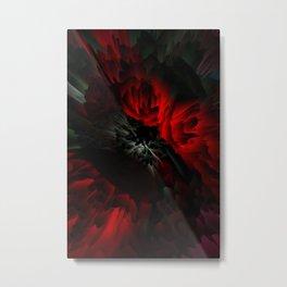 black and red rose Metal Print