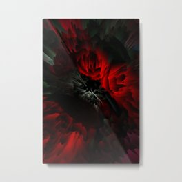 black and red rose Metal Print