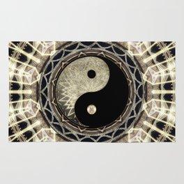 Yin Yang Geometry Mandala V1 Rug