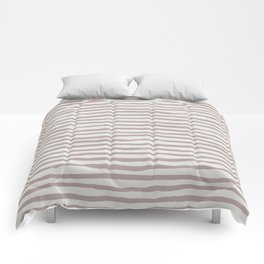 Simply Shibori Stripes Clay Pink on Lunar Gray Comforters