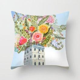 Casa das flores Throw Pillow