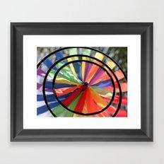 Wind Wheel Framed Art Print