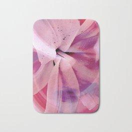 Pink Flower Abstract 2 Bath Mat