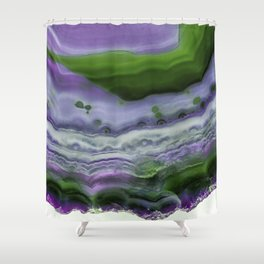 Purple and Green Agate Shower Curtain