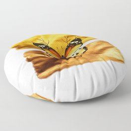 Gold and copper butterfly Floor Pillow