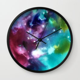 Abstract in Purple and Blue Wall Clock