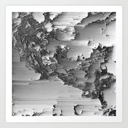 Japanese Glitch Art No.3 Art Print