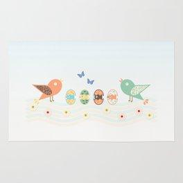 Cute birds Rug