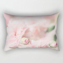Pink Carnations Rectangular Pillow