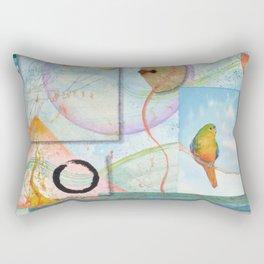 Song for Orange Bellied Parrot Rectangular Pillow