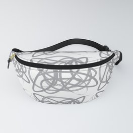 Curvy1Print Grey and White Fanny Pack