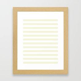 Narrow Horizontal Stripes - White and Beige Framed Art Print