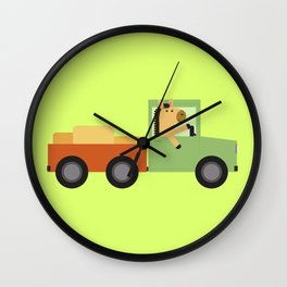 Horse on Truck Wall Clock