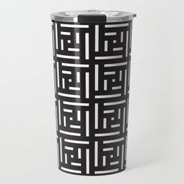 Human History (Black and White) Travel Mug
