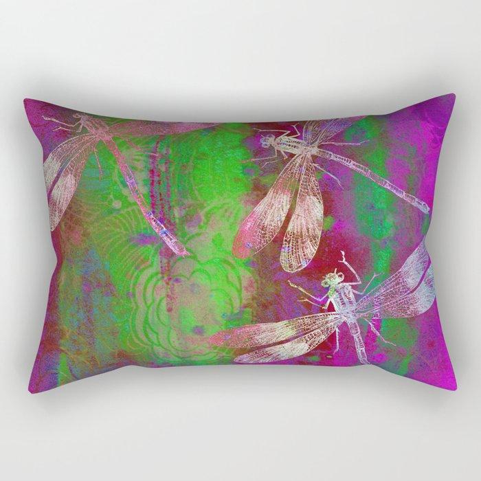 A Dragonflies QR Rectangular Pillow