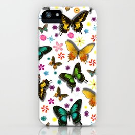 Flying Butterflies iPhone Case