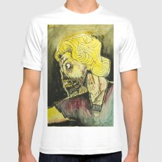 zombies MEDIUM White Mens Fitted Tee