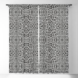 Black and White Trippy Pattern Blackout Curtain