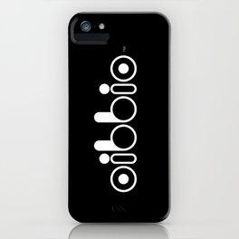 Oibbio Logo (Blackout) iPhone Case