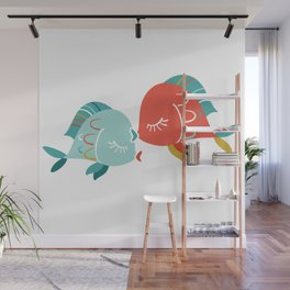 Kissing Fishes Wall Mural