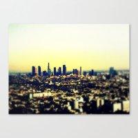 los angeles Canvas Prints featuring Los Angeles by Travis Davis