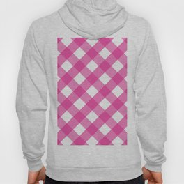 Pink & White Checkered Pattern-Mix and Match with Simplicity of Life Hoody