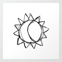 my sun my moon Art Print