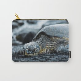 Turtle on a Black Sand Beach in Hawaii Carry-All Pouch