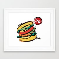 hamburger Framed Art Prints featuring Hamburger by skyboysv