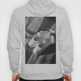 Ballet dance shoes. Black and White version. Hoody