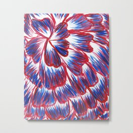 Red, White, and Blue Dahlia Metal Print