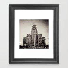 Down Town Buffalo NY city hall Framed Art Print