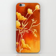 Golden Poppies iPhone & iPod Skin