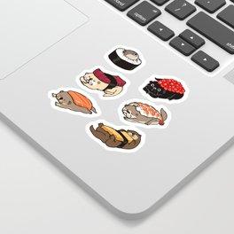Sushi Otter Sticker