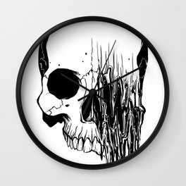 Skull #5 (Distortion) Wall Clock