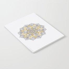 double gold mandala Notebook