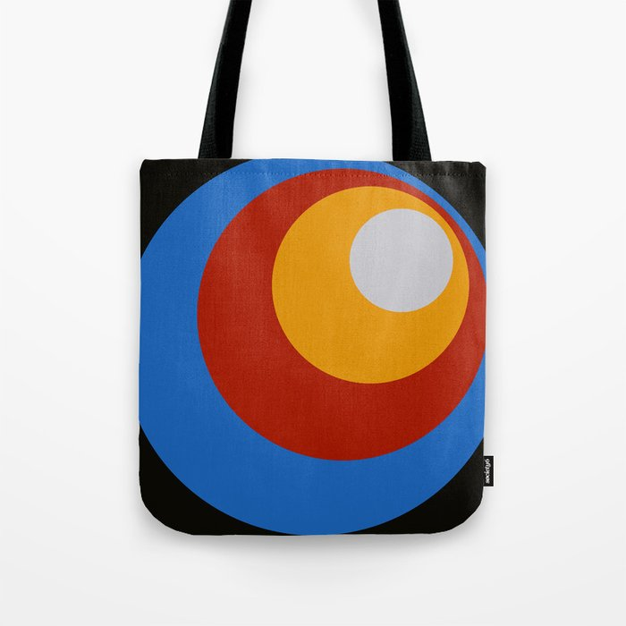 Amunet - Classic Colorful Abstract Minimal Retro 70s Style Dots Design Tote Bag