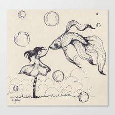 Dreamer & Obie (pen) Canvas Print